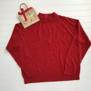 Red Sweater w/long sleeves -Large Petite